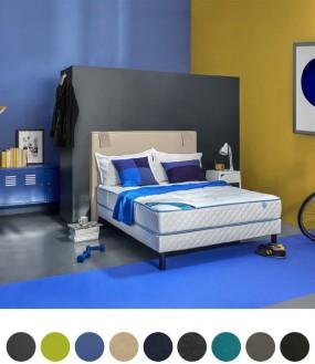 Tête de lit avec rangements design par Merinos - 9 coloris disponibles