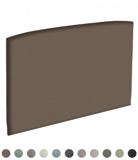 Tête de lit galbée personnalisable par Epeda - 11 revêtements au choix