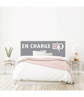 Tête de lit EN CHARGE grise fille sur mesure