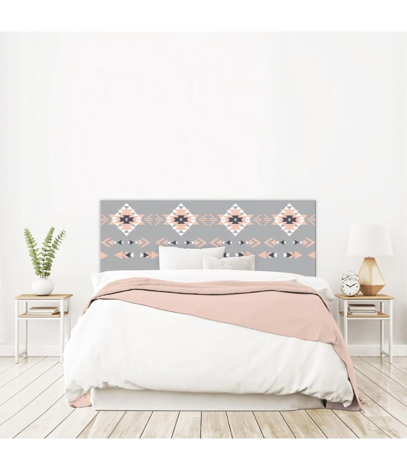 t te de lit amy ethnique grise fille sur mesure tete. Black Bedroom Furniture Sets. Home Design Ideas