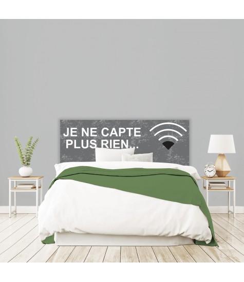 """Tête de lit """"WIFI"""" grise sur mesure"""