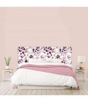 """Tête de lit """"FLEURS"""" Rose sur mesure"""