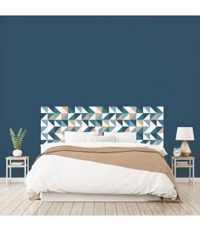 """Tête de lit """"ARLE"""" bleue sur mesure"""