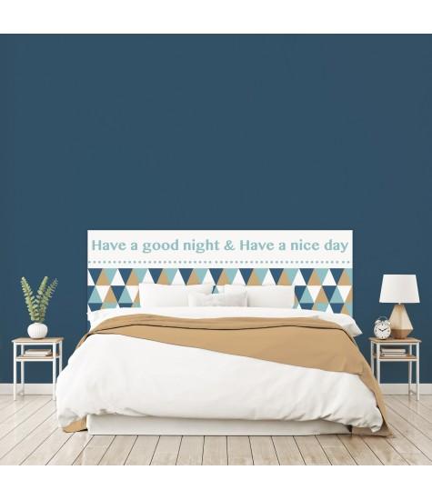 """Tête de lit """"GOOD DAY"""" sur mesure"""