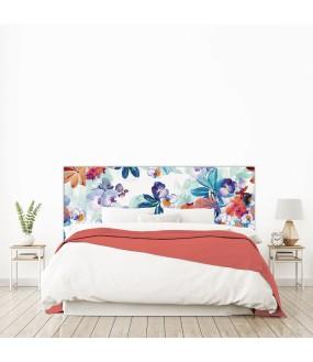 """Tête de lit """"TROPIC"""" multicolore sur mesure"""