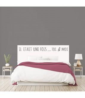 """Tête de lit """"IL ETAIT UNE FOIS"""" sur mesure"""