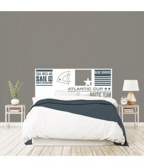 """Tête de lit """"NAUTIC"""" blanc sur mesure"""