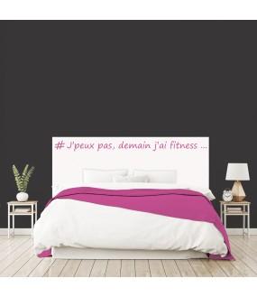 """Tête de lit """"FITNESS"""" blanche sur mesure"""