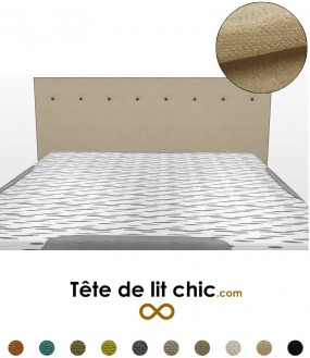 t te de lit par mati re large choix de mati res et textures tete de lit chic. Black Bedroom Furniture Sets. Home Design Ideas