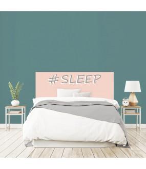 """Tête de lit """"SLEEP"""" Fille rose sur mesure"""