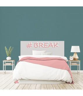 """Tête de lit """"BREAK"""" Fille grise sur mesure"""