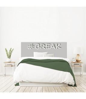 """Tête de lit """"BREAK"""" Grise sur mesure"""